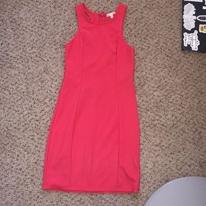 Pink fitted dress